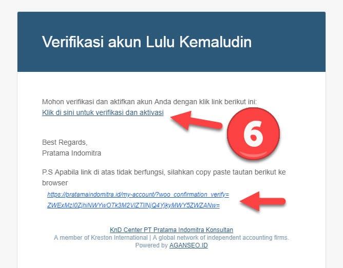 Link Verifikasi Akun